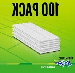 100 X Sweeper Pads fits Swiffer Dry Refill Pack Sweeping Clo