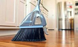 VaBroom 2-in-1 Sweeper with Built-in Vacuum, Combination Cor