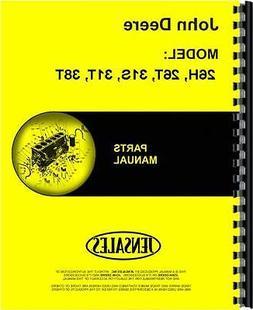 John Deere 26H 26T 31S 31T 38T Lawn Sweeper Parts Manual