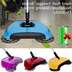 360° Spin Hand Push Sweeper Broom Household Floor Cleaning