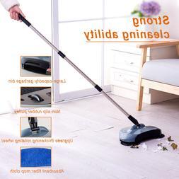 360°Manual Sweeper Broom Cleaner Floor Dust Cleaning Hand P