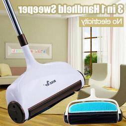 3in1 Hand Push Sweeper Broom Household Floor Cleaning Mop Wi