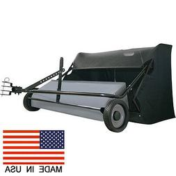 "50"" LAWN SWEEPER - 26 Cubic Ft - Pull Behind - 12"" Wheels -"