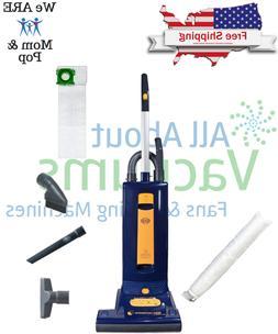 SEBO 9587AM Automatic X5 Upright Vacuum, Blue/Yellow - Corde
