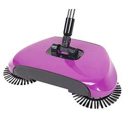 COUTUDI Automatic Hand Push Household Lazy Sweeper Broom 360