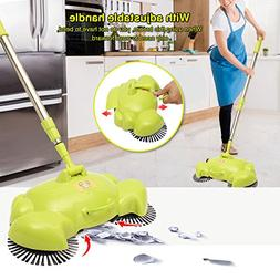 Automatic Hand Push Sweeper, LuckyFine 360 Rotary Automatic