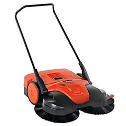 Haaga  Battery Powered Triple Brush Push Power Sweeper