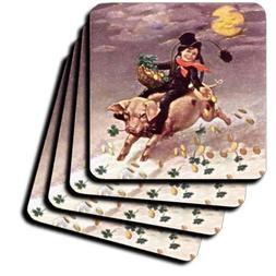 3dRose cst_42888_4 Chimney Sweeper on Flying Pig 'Vintage' C