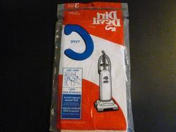 DIRT DEVIL upright vacuum sweeper bags   TYPE C     3 BAGS