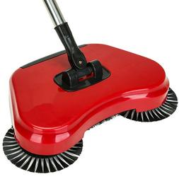 Easy Push Manual Spinning Floor Sweeper Rotates 360 Degrees