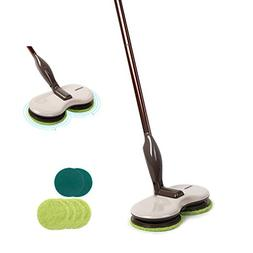 Electric Spin Mop, Cordless Floor Sweeper Cleaner with Dual