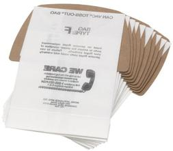 Dirt Devil Paper Bags, 10Pk Can Vac Type F - Type F