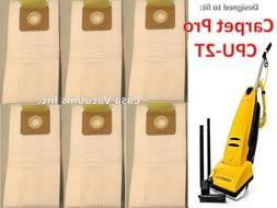 Carpet Pro H.E.P.A Vacuum Cleaner Bags, CPU-2T Commercial Va