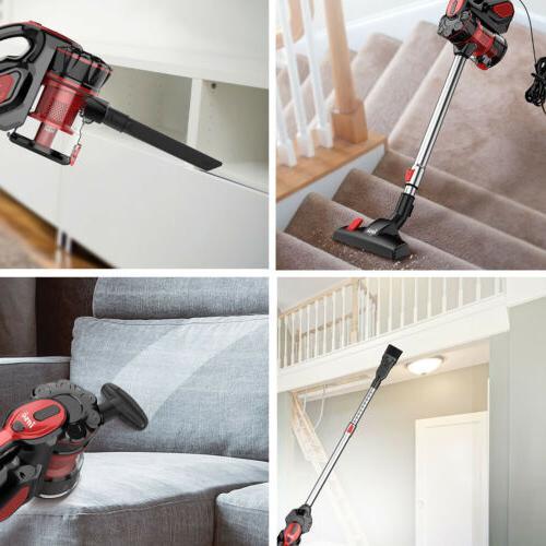 18KPa Cleaner 2 in 1 Handheld LED Car Floor