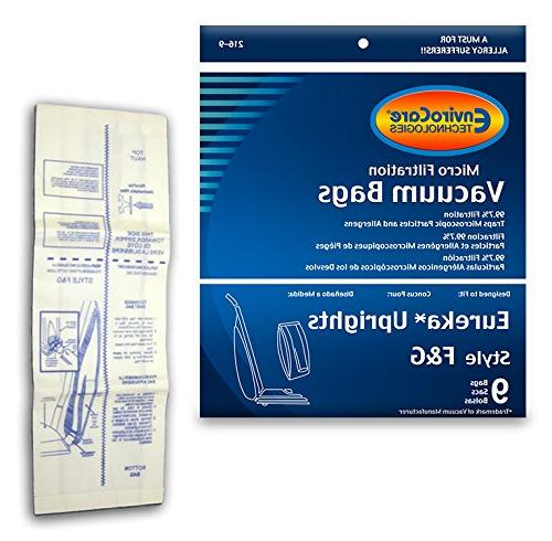 225 Eureka Allergy Micro Lined Vacuum F&G Bag Sanitaire Kenm