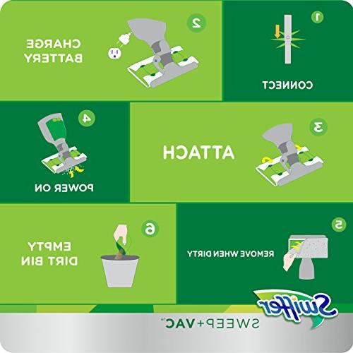 Swiffer Sweep Vac Vacuum Cleaner Floor and Carpet Cleaning, 1 Dry Charger