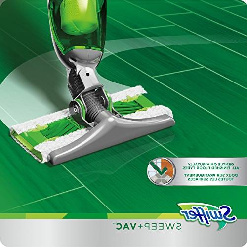 Swiffer Sweep Vacuum Cleaner for and Carpet Cleaning, Includes: 1 Rechargable Vacuum, 8 Dry