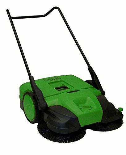 Bissell - Biggreen Commercial Push Power Sweeper - Green