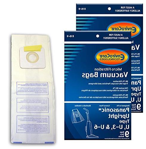 EnviroCare Replacement Vacuum bags for Panasonic Types U, U-