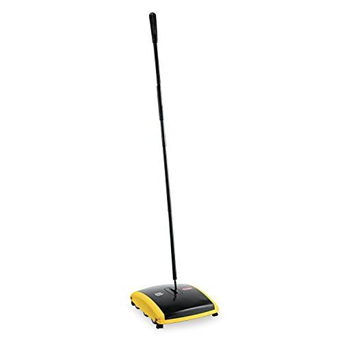 Rubbermaid 421388BLA Dual Action Sweeper, Boar/Nylon Bristle