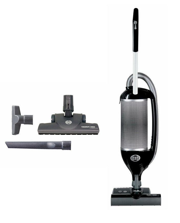 SEBO 9807AM Felix 1 Premium Onyx Upright Vacuum with Parquet