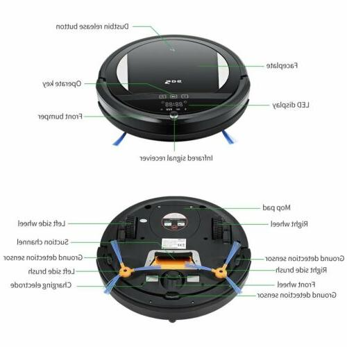 Pro Robot Vacuum Cleaner Automatic Sweeper Carpet Clean
