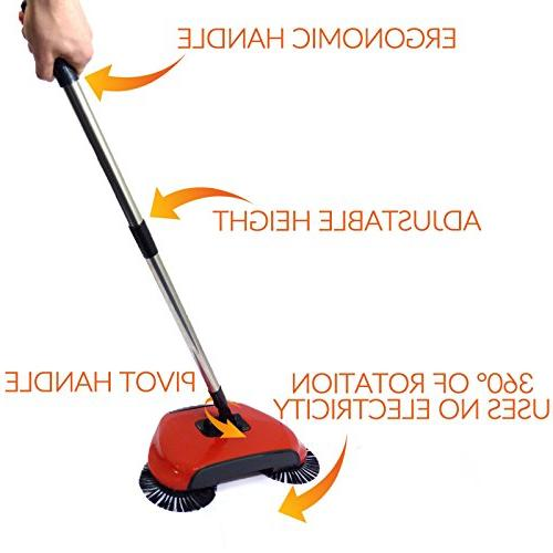 Automatic Spin in Brush Dustpan