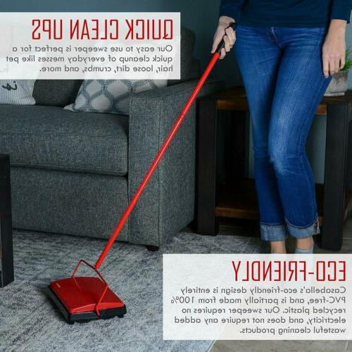 """Casabella Carpet Sweeper 11"""" Electrostatic - Red"""
