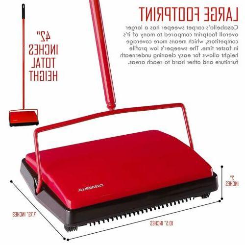 "Casabella Sweeper 11"" Electrostatic Floor Red"