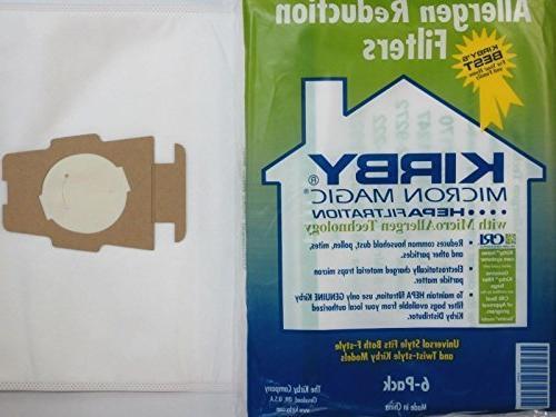 cloth sentria hepa micron magic ultimate kirby vacuum bags s