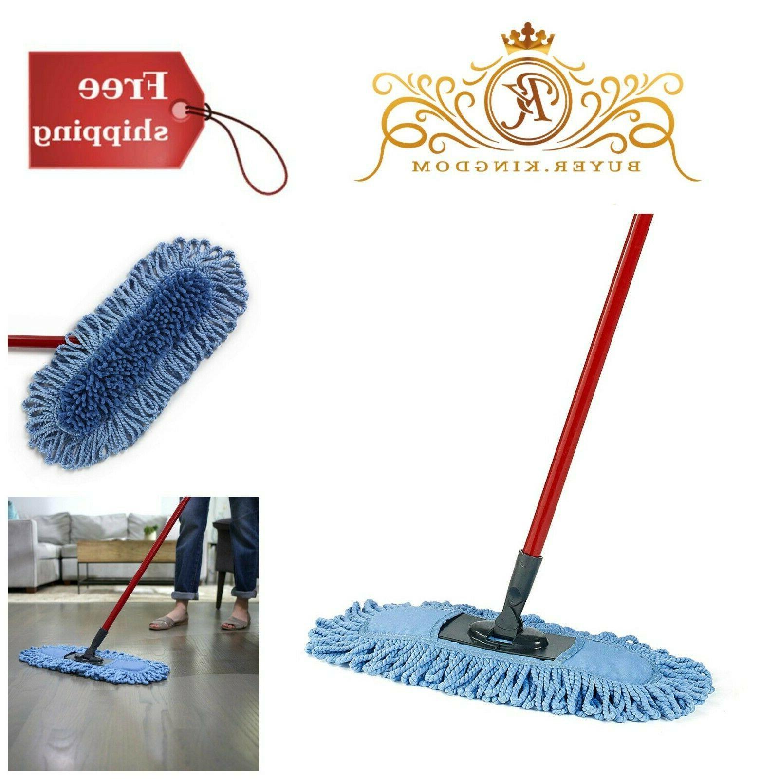 Microfiber Sweeper Dust Mop Dual Action Home Kitchen Floor C