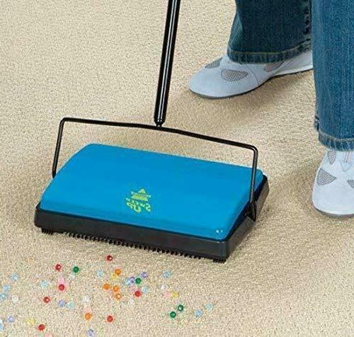 NEW Floor & Carpet Sweep-Up Sweeper w/ Built-in Pan