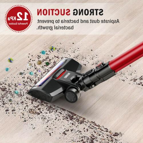 ONSON Cordless Stick Cleaner 2 in LED Brush Floor