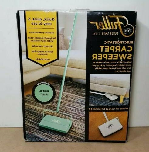 new open box electrostatic carpet sweeper fresh