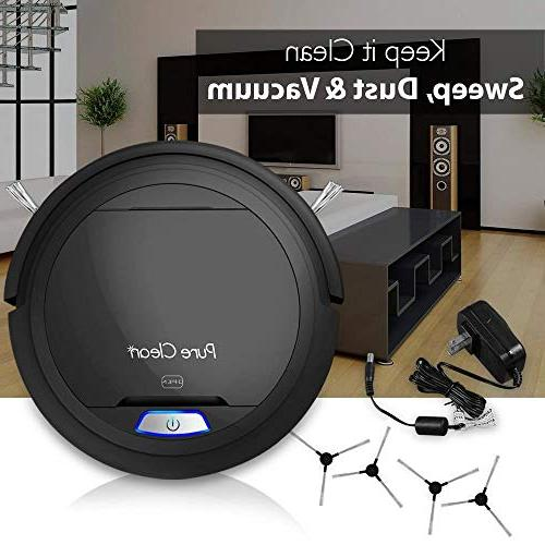 PURE CLEAN Robot Auto Home Bot Self - Hair Black