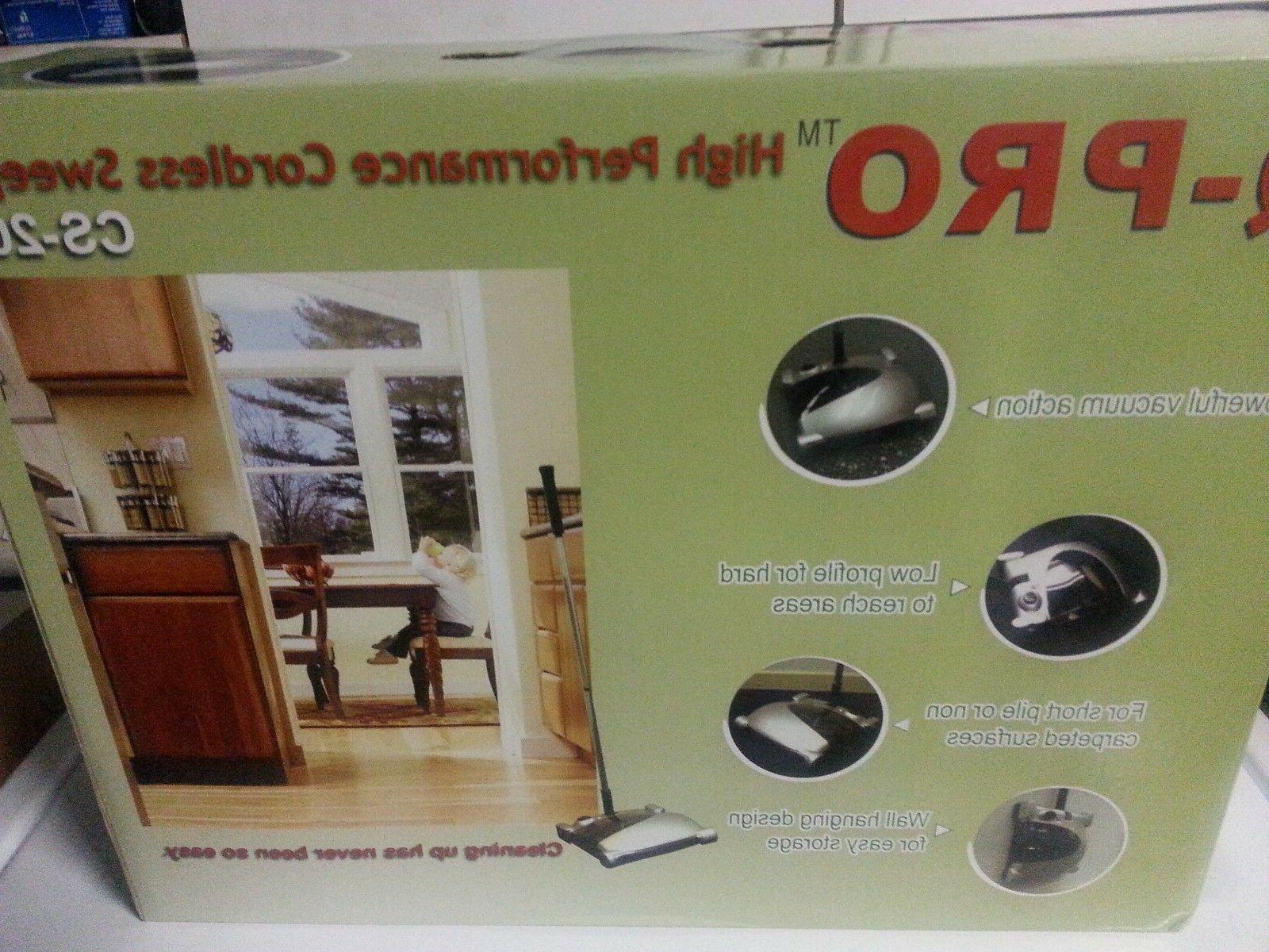 q pro rechargeable cordless sweeper carpet floor