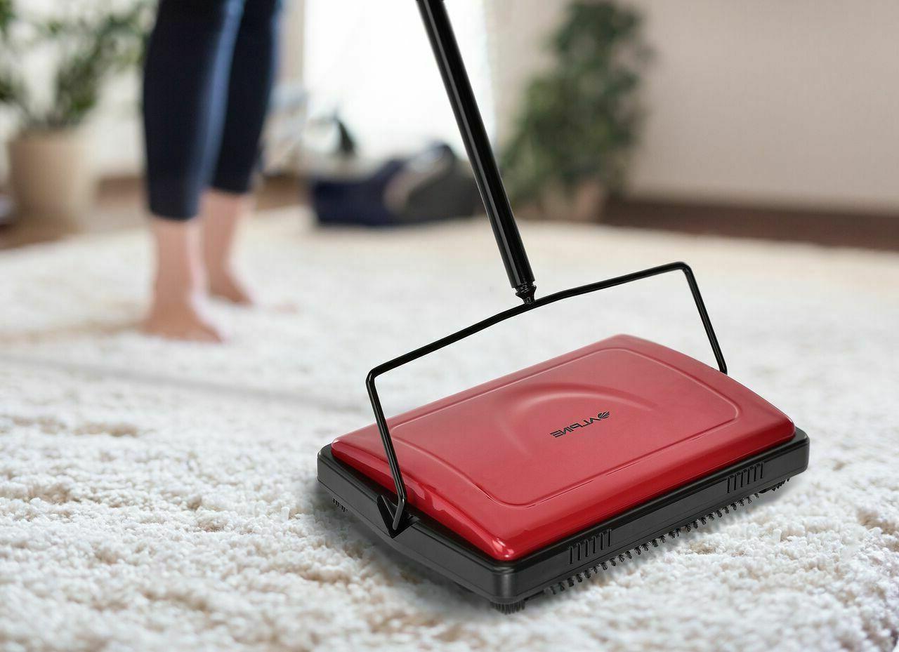 Alpine Industries Red Brush Manual Floor and Carpet