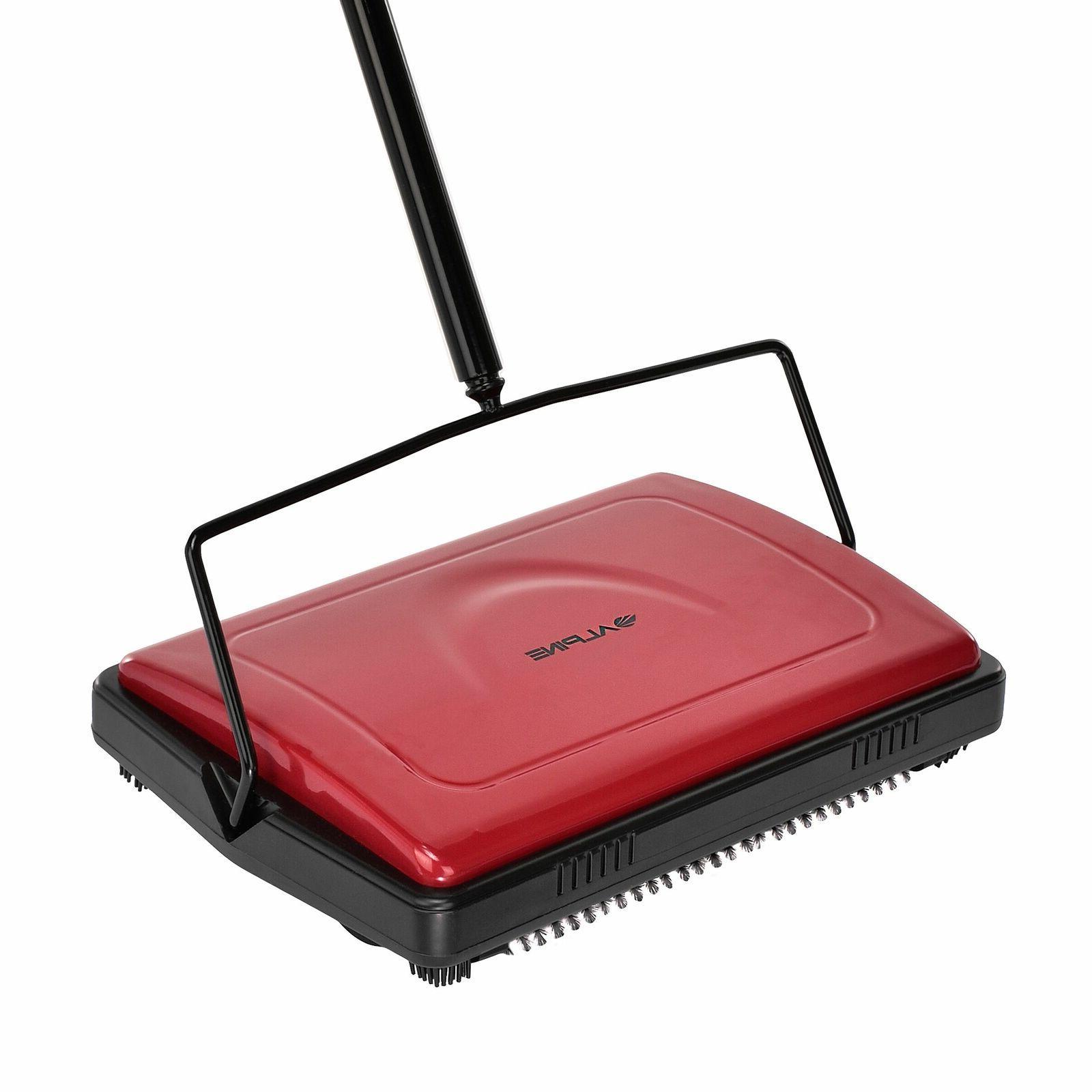red triple brush manual house broom floor