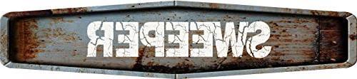 rustic weathered metal look sweeper