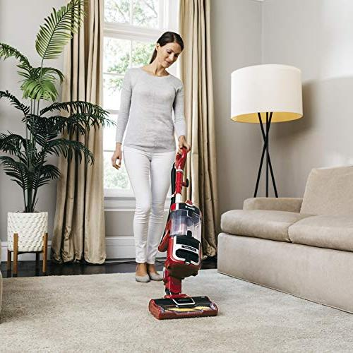 Shark Navigator Upright Vacuum with Wrap Technology, HEPA and Steering , Red
