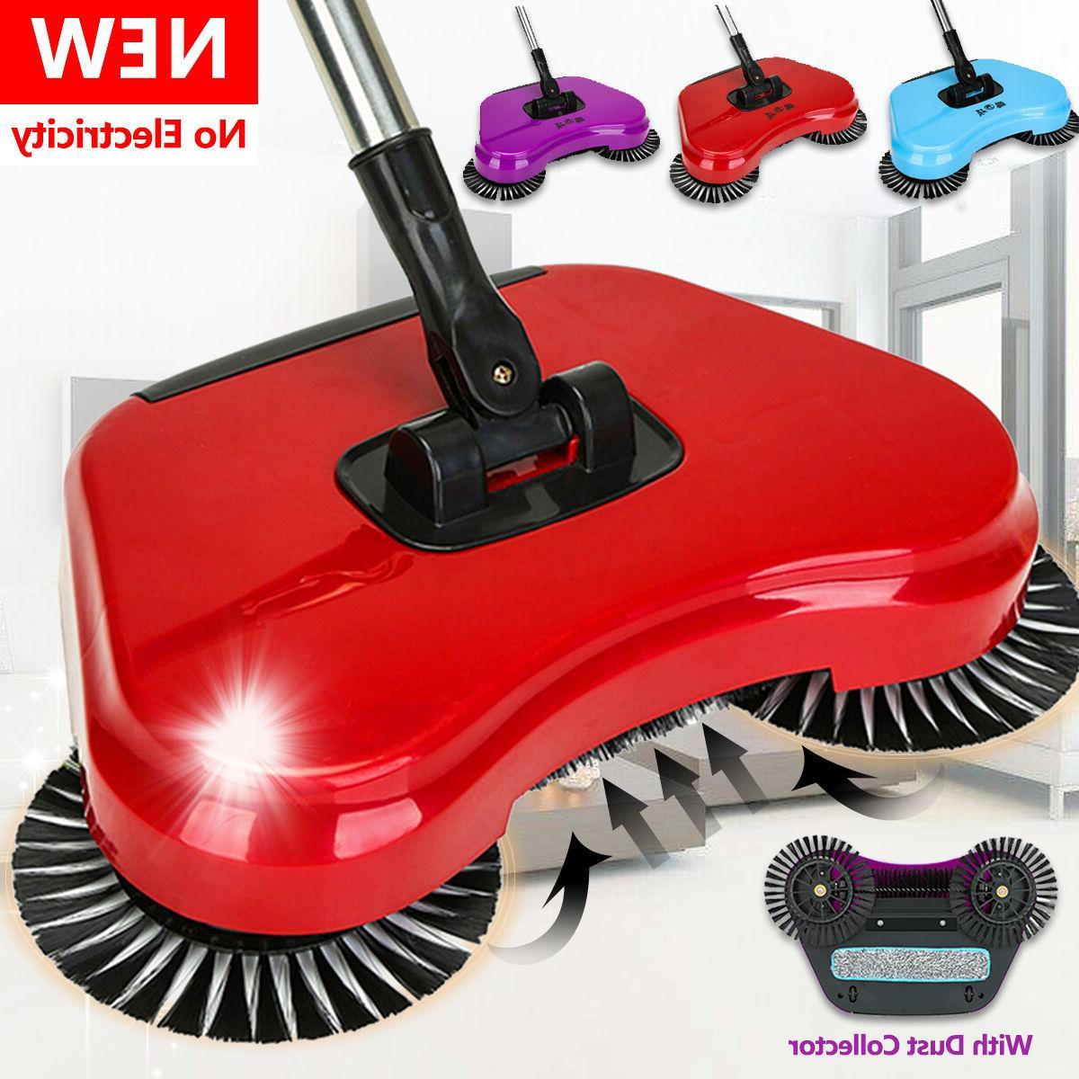 spin hand push sweeper broom household floor