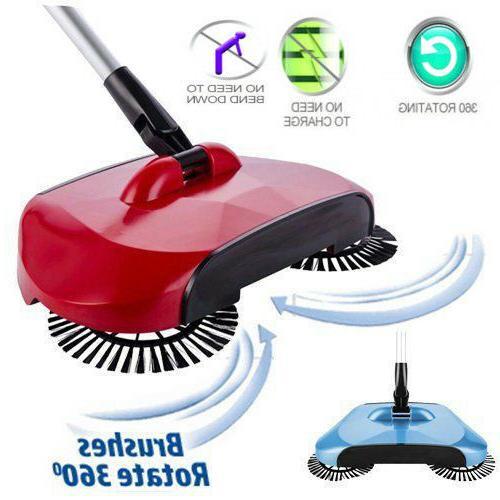 spin hand push sweeper household floor dust