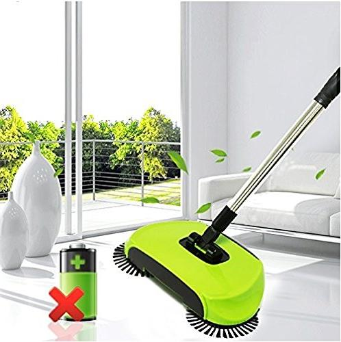 KORCCI Pc Random or As on TV. Sweeper with Dustpan for and Concrete.
