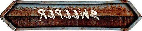 sweeper painted lettering look rusted