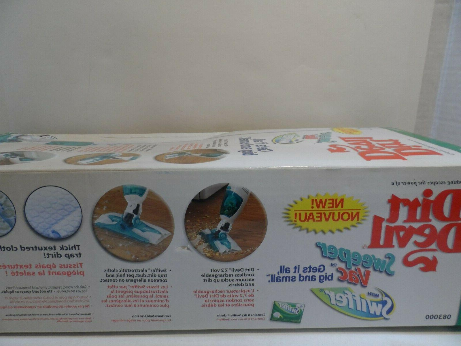 Dirt Devil Sweeper with Swiffer 083000 New,sealed