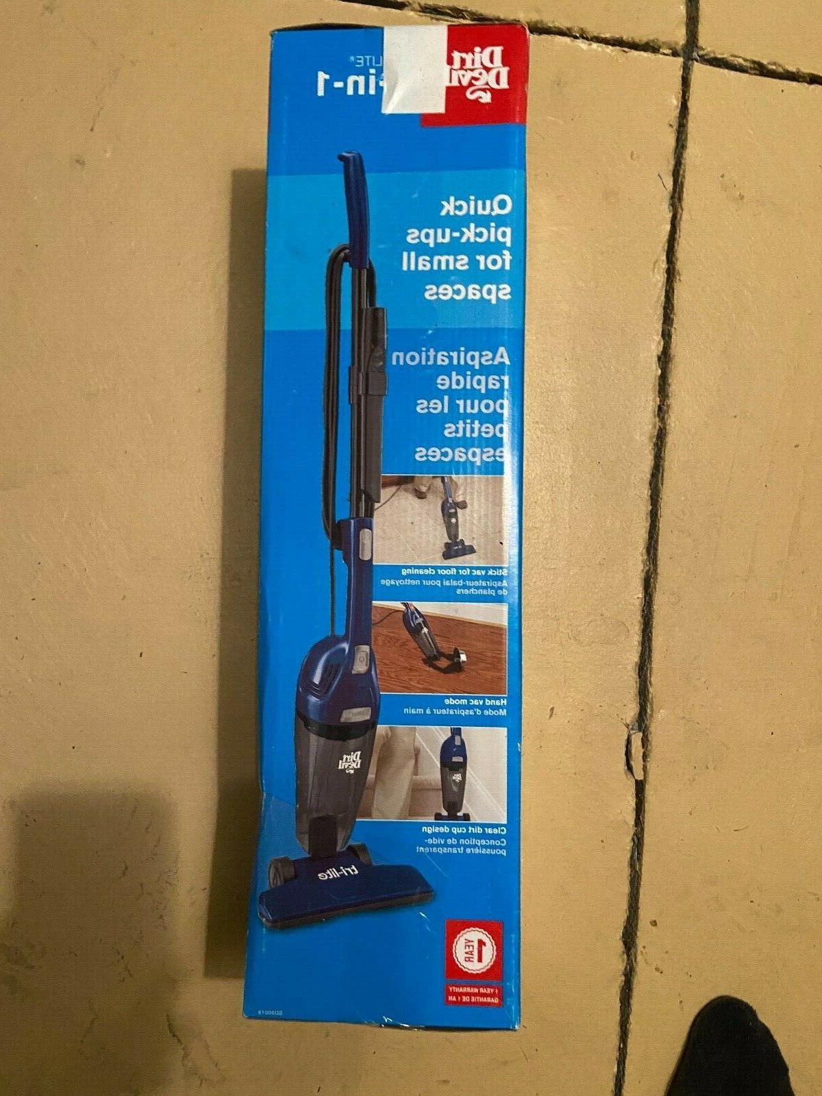 Dirt Devil Tri-Lite Stick Vacuum - Snorkel Blue, SD20019