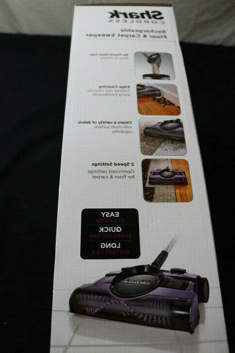 SHARK V2950 CORDLESS FLOOR CARPET SWEEPER - NEW IN