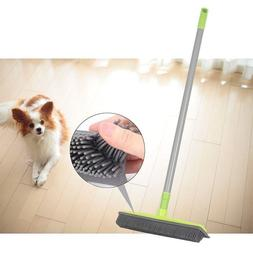 Long Push Rubber Broom Pet Cat Dog Hair Clean Bristles Sweep
