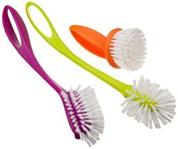 Casabella Loop 3-Piece Dish Brush Set - 15519AZ