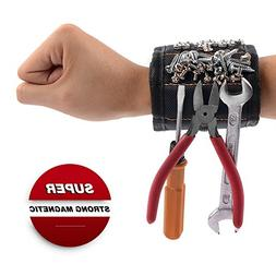 GOOACC Magnetic Wristband with 15 Strong Magnets for Holding
